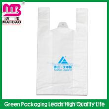 El plástico de encargo pesado de la fábrica imprimió la camiseta plástica del logotipo de los bolsos del rollo del guanghzou