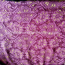 N/t Gold And Mauve Colour Lace Fabric For Ladies Fashion