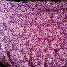 N / t Золото и сиреневый цвет Кружева Ткань для дамы Мода