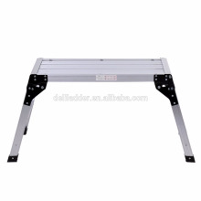 Escalera de aluminio plegable de la plataforma de trabajo del banco de trabajo de la plataforma EN131 y CE 150Kg Hop UP