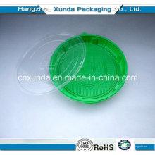 2015 Placa de plástico descartável para alimentos com tampa