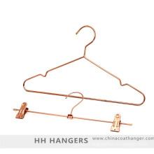 Rose Copper Gold Wire Metal Coat Hanger Suit