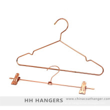 Fio de cobre ouro Metal cabide terno de rosa