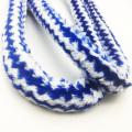 1.8m blau gestreiften Fell Design Hookah Schlauch mit Acryl Mundstück (ES-HH-006-4)