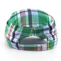 Fashion Check Pattern Military Hats