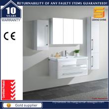 2016 Moderna lacado blanco MDF gabinete de baño para el europeo