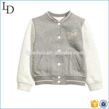 Brushed Fleece Kinder Varsity Jacke neues Design Hoodies Baseball Varsity Jacke
