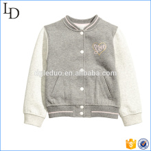 Brushed fleece kids varsity jacket new design hoodies baseball varsity jacket