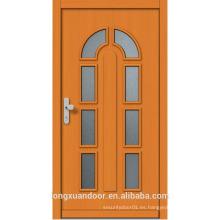 Puerta de cristal interior de madera hecha a medida, puerta de madera moderna con el vidrio