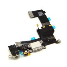 Brand New Blanco USB Dock Connector y auriculares Audio Jack Flex Cable para iPhone 5s