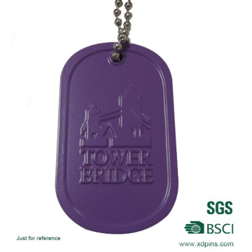 Custom Aluminum Stamped Dog Tag with Embossed Logo