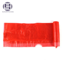 Drawstring plastic trash car garbage bag on roll