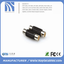 RCA Coupler Female to Female 2 RCA Inline coupler Adapter Stereo Cable