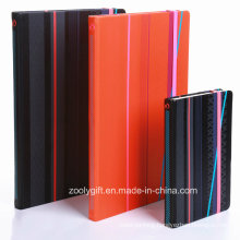Quality A6 / A5 Design Printed PU Leather Cover Agenda Notebook with Elastic Strap Closure