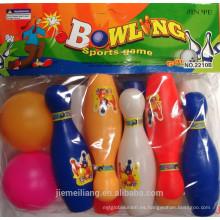 JML bolas de bolos más baratas / mini bolas de plástico con 10 pins para la venta para niños