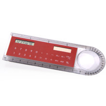 8 Digits 10cm Ruler Calculator Magnifying Glass