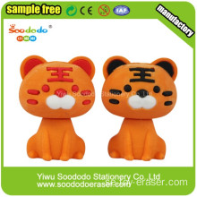Novelty Animal Gul Tiger suddgummin