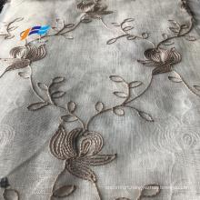 Beautiful Embroidered Bedroom Window Organza Curtain Fabric