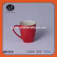 red stoneware mug,ceramic mug wholesale,stoneware mug with color,OEM ceramic mug