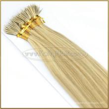 Double Drawn Nano Keratin Protein Hair Wholesale Russian Nano Ring Hair Extensions