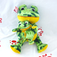 Плюшевая лягушка-лягушка и лягушка