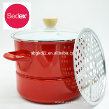 FDA LFGB certificated enamel olla pot with one solid color & 8qt capacity