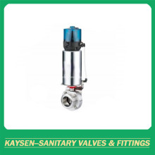 3A Hygienic Intelligent Pneumatic Butterfly Valve Male end