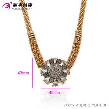 Xuping de la manera 18k plateó el collar femenino del zircon en la aleación de cobre ambiental -00014