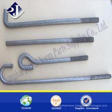 High strength zinc finished bolt Hot forging foundation bolt Foundation bolt