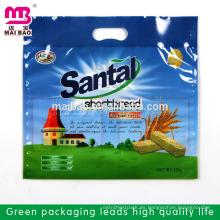 El sellado fuerte de gran tamaño cortó las bolsas plásticas del embalaje del polvo del lavado del diseño de la manija en bulto