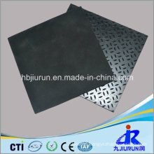 Rice Pattern Anti-Slip Rubber Sheet with Fabric Impressed