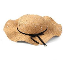 2020 auditions straw hat with shinning paillette