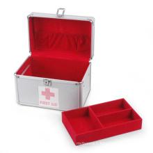 Boîte médicale en aluminium argentée (HX-W2939)