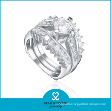 OEM/ODM Popular 925 Sterling Silver Ring Designer (R-0440)