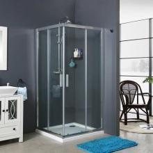 Хромированная алюминиевая душевая кабина для ванны раздвижная дверь