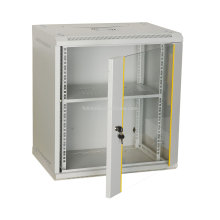6U Wall Mounted Network Cabinet with glass door and lock Wall mounted network cabinets with lock