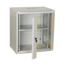 Настенный сетевой шкаф 6U со стеклянной дверью и замком Настенный сетевой шкаф с замком