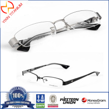 Half-Rim Optical Glasses Pure Titanium Frames