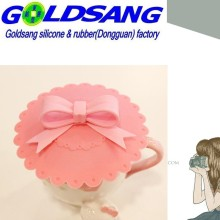 Silicone Bowknot Cup Cover Heat Resistant Silicone Cup Lid