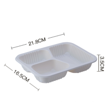 3 Compartments Packaging Trays for Sale /Disposable Corn Starch Food Container