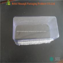 Clear plastic flower nursery seedling trays