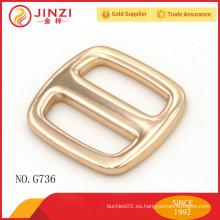 20 mm exquisito brillante de color de oro tri-glide partes del bolso