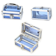 La catégorie bleue a cas cosmétiques acryliques (hx-q048)