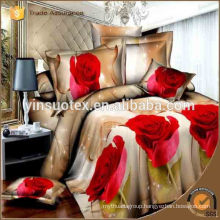 factory wholesale 100% polyester fashion bedroom reactive printed polyester all size 3D bedding set