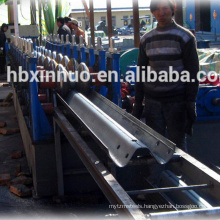 China Heibei Botou city automatic highway guardrail / crash barrier galvanized cold making machine