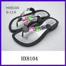 Zapatos brillantes de la sandalia de la señora de las sandalias de la suposición de las señoras del diamante 2015