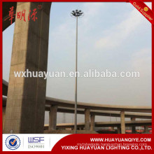 Square, viaduct or stadium medium polygonal high mast lighting pole tower price from China manufacturer