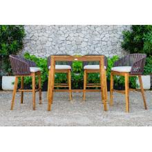 Diseño de estilo de polietileno Rattan jardín al aire libre Patio Set Muebles de mimbre