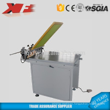 Manual screen printing machine with suction table