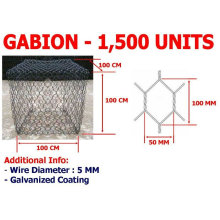 Caixa de gabião de malha de arame hexagonal Sistema de Proteção